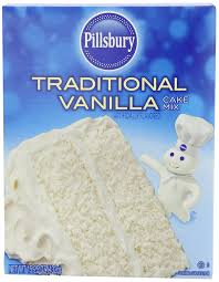 amazon com pillsbury traditional cake mix vanilla 15 25 ounce