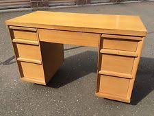 Heywood Wakefield Desk EBay - Mid century modern blonde bedroom furniture
