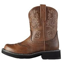 ariats womens boots nz ariat s fatbaby saddle boots fatbaby toe russet rebel 10000860