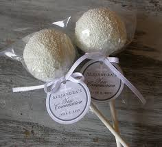 first communion favor tags for cake pops by simplydivinedesserts