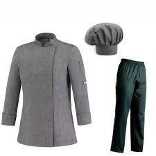 tenu de cuisine femme tenue de cuisine femme grise veste pantalon toque