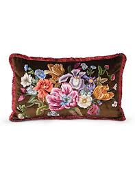 strongwater pillows strongwater floral 16 x 26 pillow bouquet