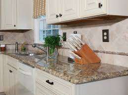Backsplash For Kitchen With Granite How To Install A Granite Kitchen Countertop How Tos Diy