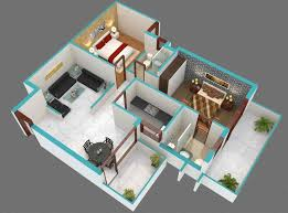 2 Bhk Home Design Layout by Sqyrds 2bhk Home Design Plans Indian Style 3d Sqft West Facing Bhk