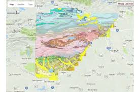map of arkansas interactive map of the surface geology of arkansas american