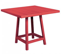 Blu Dot Strut Table Crp 40 Inch Square Table Top With Pub Table Legs