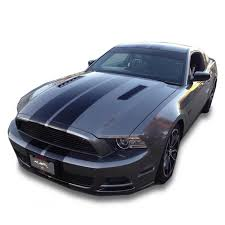 Black Mustang 2013 Matte Glossy White Or Black 2013 2014 Mustang Dual Racing Rally