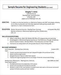 Job Resume Objectives by Career Objective Internship Sample