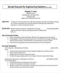 Job Resume Objectives by Career Objective Internship Sample