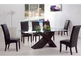 modern dining room sets table modern glass dining room creditrestore regarding amazing
