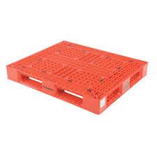 vestil 48 in x 40 in x 6 in red plastic pallet skid plp2 4840