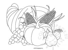 coloring pages cornucopia color thanksgiving coloring pages