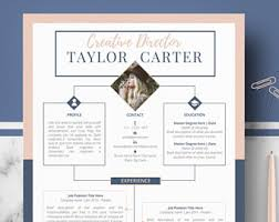Reference Resume Template Creative Resume Etsy
