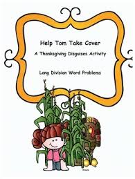 thanksgiving math word problems activity division