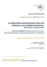 bureau union bruxelles lunchtime debate la diplomatie parlementaire dans les relations