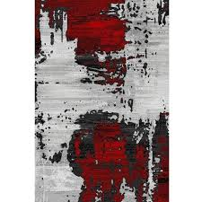 abstract area rug in bold red shop cozy rugs for abstract rugs