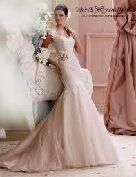 blush lace mermaid wedding dress naf dresses
