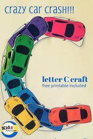 letter c craft crazy car crash kidz activities