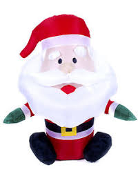 inflatable blow up santa father christmas decoration for indoor