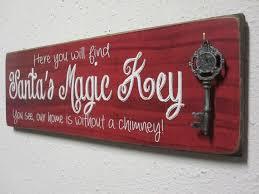 santas magic key sign by bornonbonn on etsy 35 00
