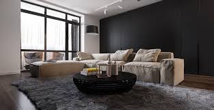 Minimalist Apartment Design By Decorating With Dark And Wooden - Minimalist apartment design