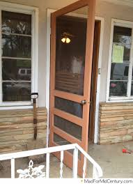 Modern Doors Brown Vintage Screen Door On A Mid Century Home Mid Century