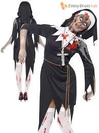 Karate Kid Halloween Costume Mens Ladies Zombie Bloody Nun Vicar Priest Halloween Fancy Dress