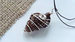 shell necklace making images How to create wire wrapped sea shell pendant diy style tutorial jpg