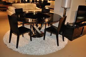 a u0026x spiral round black crocodile lacquer table w lazy susan