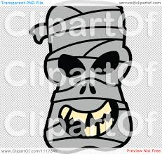 cartoon of a halloween mummy with a naughty grin royalty free