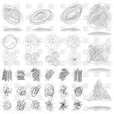 pencil sketches by hand of different design vector clipart image