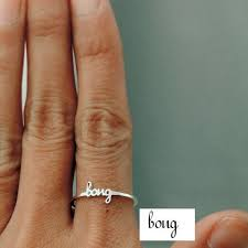 day rings personalized best 25 stackable name rings ideas on name rings