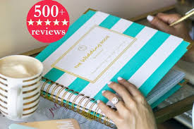 wedding planner notebook keepsake wedding planner book monogrammed planner wedding