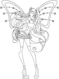 winx coloring page bloom stella flora musa tecna and
