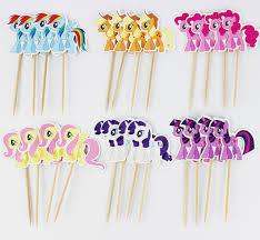 my pony cupcake toppers aliexpress buy 24pcs my pony cupcake toppers picks