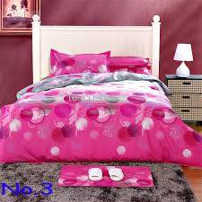 pink 100 cotton printed soften bedding set creative quilt cover