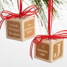 personalized wood block ornament baby s 1st
