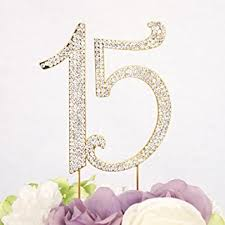 15 cake topper gold plated number 15 birthday quinceneara sweet 15