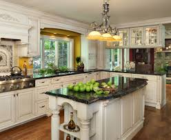 kitchen colours with dark cabinets black granite countertops