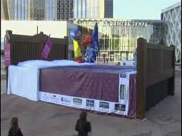 biggest bed ever ihg s world s biggest bed jump in new york youtube