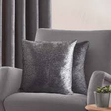 Pewter Curtains Pewter Grey Fully Lined Luxury Eyelet Top Curtains