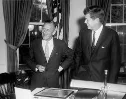 ar6551 a president john f kennedy visits with a r u201creg u201d evans