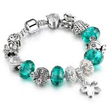 bead bracelet european images European style silver crystal bead charm bracelet for women jpg