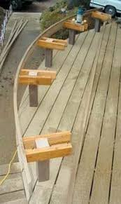 Bench Supports Profitable Curved Benches Professional Deck Builder Design