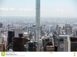 worlds tallest residential skyscraper in manhattan editorial image