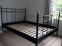 interior black metal double bed frame uk argos ikea daybed black