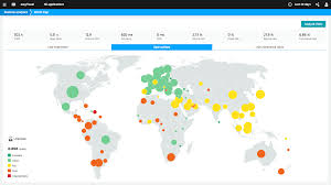 World Map App by Application Monitoring Dynatrace