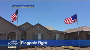 Sacramento City Flag Galt Woman Told She Can U0027t Have Two Flag Poles On Property Cbs