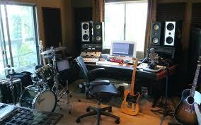 small music studio home studio ideas desk for home music studio with window curtain