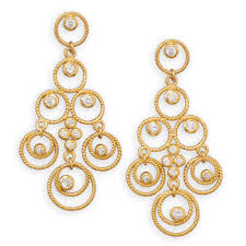 gold chandelier earrings karat gold plated cz chandelier earrings